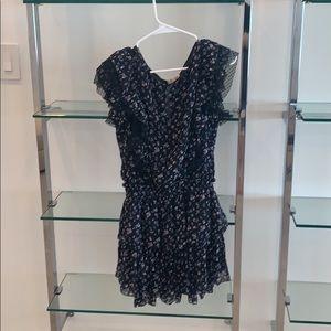 LoveShackFancy Dress Black Floral XS